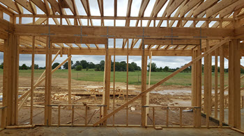 New home under construction in Memphis, TN